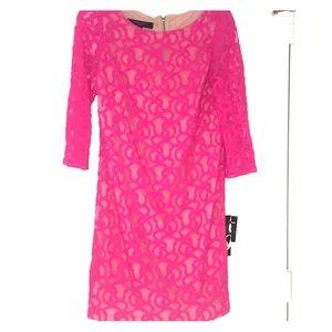 Nine West Dress - Shocking Pink Size 8